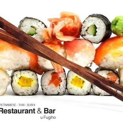 28 až 56 kousků lahodného sushi různých druhů v restauraci Oi Zoi Oi Phơ v Praze