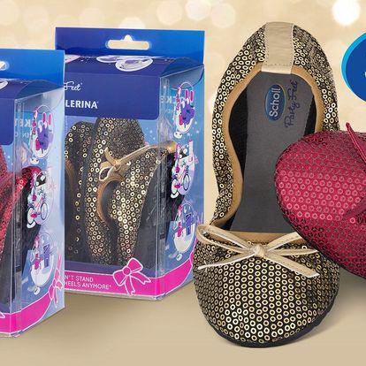Skládací balerínky Scholl Sequins
