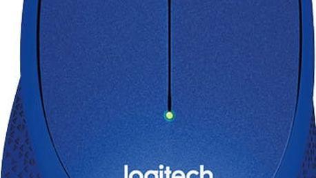 Logitech M330 Silent Plus, modrá - 910-004910