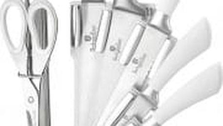 Sada nožů ve stojanu 8 ks Perfect Kitchen nerez / bílá BERLINGERHAUS BH-ST8W