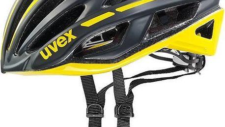 Přilba Uvex Race 5, vel. 55-58cm černá/žlutá + Doprava zdarma
