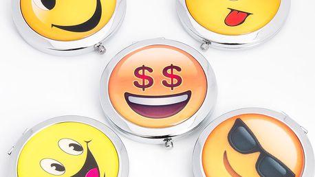 Kapesní kosmetické zrcátko Smile kovové