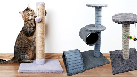Škrabadla pro kočky: příjemné poležení i broušení drápků