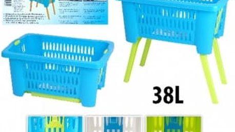 Koš na prádlo plastový 38 l skládací nohy 60x40x60 cm modrá ProGarden KO-Y54630210modr