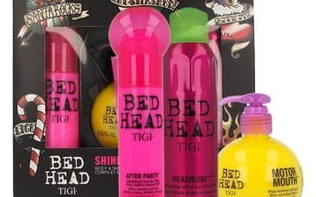 Tigi Bed Head Motor Mouth dárková kazeta pro ženy přípravek pro objem vlasů 240 ml + uhlazující krém na vlasy Bed Head After Party Hair Cream 100 ml + vlasový sprej Bed Head Headrush Spray 200 ml