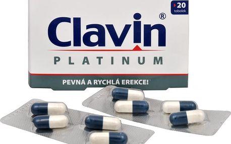 Clavin Original – přípravek k erekci s rychlým nástupem účinku, 8 nebo 20 ks tobolek