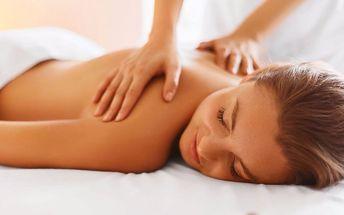 30 nebo 60minutová klasická masáž zad a šíje