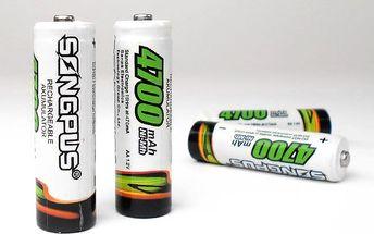 Nabíjecí tužkové baterie AA – 4 kusy