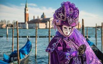 Itálie - Benátky: 3denní výlet na karneval s návštěvou Murana a Burana pro 1 osobu z Prahy
