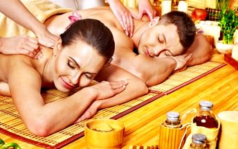 60min. luxusní párová masáž dle výběru s prohřátím v sauně - klasická, mandlová a další