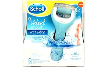 Scholl Elektrický pilník na chodidla do vody Velvet Smooth (Wet And Dry)