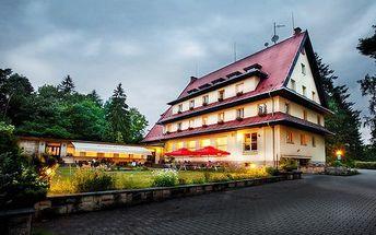 3denní pobyt s all inclusive nápoji pro 2 v Českém ráji v Parkhotelu Skalní město***