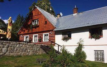 3–5denní pobyt se snídaněmi a saunou pro 2 v Jizerských horách v Chalupě Podlesí