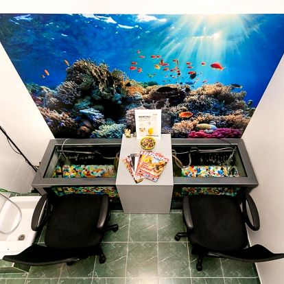 Pedikúra s rybkami Garra Rufa v délce 30 nebo 60 minut - hojivá koupel nohou pro 1 či 2 osoby