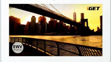 """Dotykový tablet iGET Smart S100 bílý (10.1"""", 8 GB, WF, Android 5.1)"""