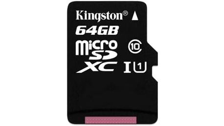 Paměťová karta Kingston 64GB UHS-I U1 (90R/45W) (SDCA10/64GBSP)