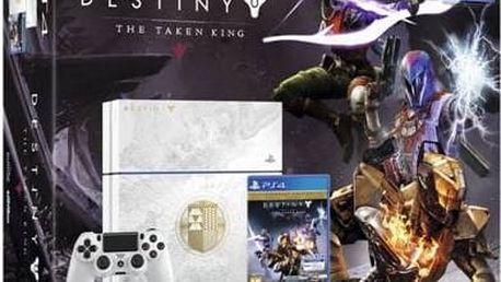 Herní konzole Sony PlayStation 4 500 GB + hra Destiny: Taken King Edition (PS719821946) bílá + Doprava zdarma