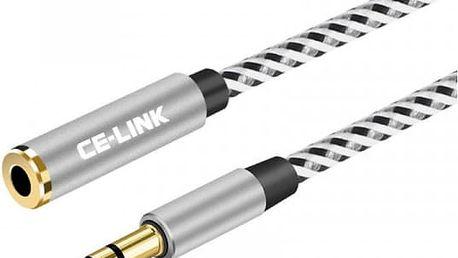 Prodlužovací audio kabel 3,5 mm s pozlaceným konektorem - 1 m