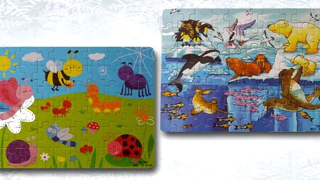 Dětské dřevěné puzzle s motivy pro kluky i holky