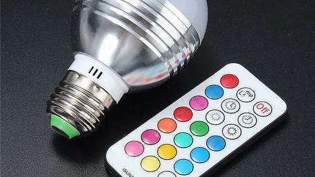 Barvu měnící LED žárovka s dálkovým ovládáním