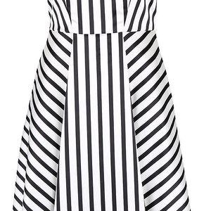 Černo-krémové pruhované šaty Closet