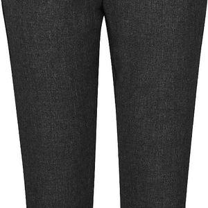 Tmavě šedé žíhané osminkové kalhoty VILA Rome