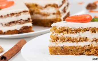 1,8kg mrkvovo-ořechový dort s limetkovým krémem