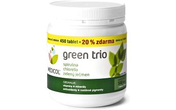 Medicol Green Trio 450 tablet + 20 % zdarma