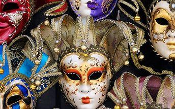 3denní poznávací zájezd na karneval v Benátkách pro jednoho včetně dopravy z Prahy nebo Brna.