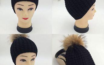 Dámská pletená zimní čepice - dodání do 2 dnů