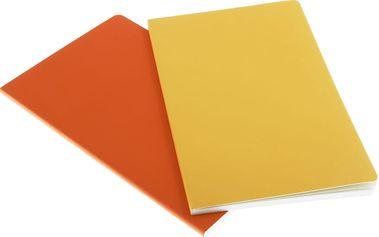 Sada 2 notesů Moleskine Volant 13x21 cm, žlutá + linkované stránky