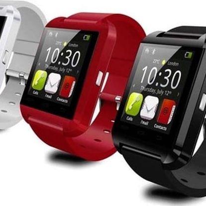 Chytré náramkové hodinky U8 s bluetooth ve 3 barvách