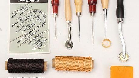Sada nástrojů pro práci s kůží - 13 kusů