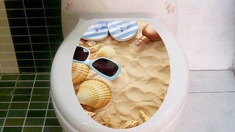 Samolepka na toaletu s přírodními motivy