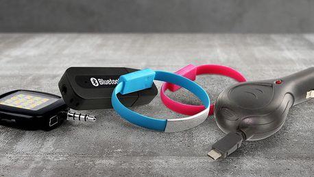 Přijímač hudby, USB náramky a další vychytávky