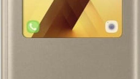Pouzdro na mobil flipové Samsung pro Galaxy A5 2017 (EF-CA520P) (EF-CA520PFEGWW) zlaté