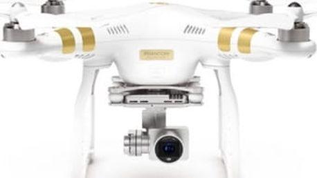 Dron DJI Phantom 3 Professional, 4K Ultra HD kamera (DJI0322) (DJI0322) bílý
