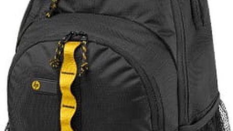 HP Sport Backpack, černá se žlutými prvky - F3W17AA#ABB