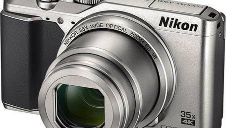 Digitální fotoaparát Nikon Coolpix A900 stříbrný + Doprava zdarma