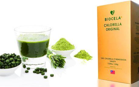 Udrží vás fit: 100% řasa Chlorella v tabletách