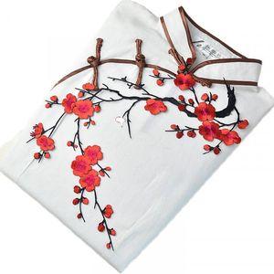 Nášivka na oblečení - Třešňová větvička s květy