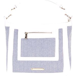 Modro-krémová vzorovaná kabelka LYDC