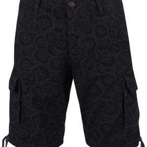 Šedo-černé vzorované kraťasy s kapsami Jack & Jones Gary