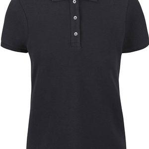 Černé žebrované dámské polo tričko Nautica