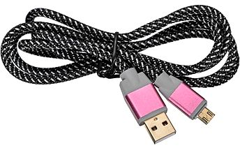 Mikro USB kabel originálního stylu - růžová barva