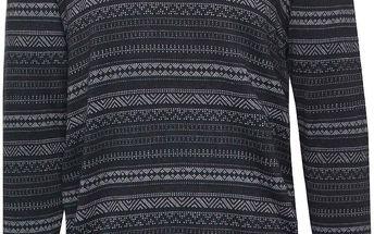 Tmavě modrý vzorovaný svetr !Solid Eduward