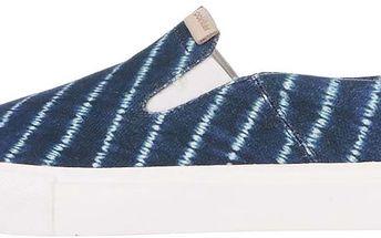 Bílo-modré pánské slip on kožené tenisky Pointer Morris