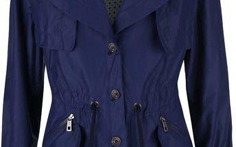 Modrý dámský kratší kabát bugatti