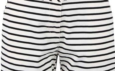 Černo-bílé pruhované dámské šortky Tom Joule Brooke