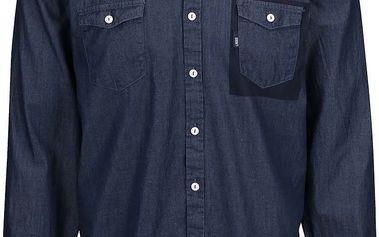 Tmavě modrá pánská košile s výraznou kapsou Lindbergh
